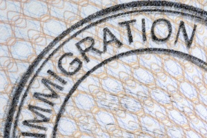 Passport immigration stamp